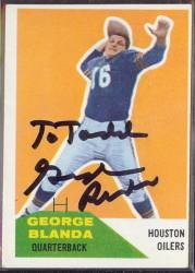 Autographed 1960 Fleer George Blanda