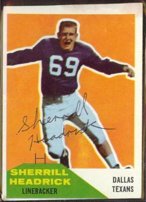 Autographed 1960 Fleer Sherrill Headrick