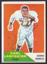 autographed 1960 fleer carl larpenter
