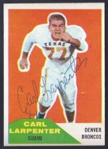 autographed 1960 fleer carl larpenter
