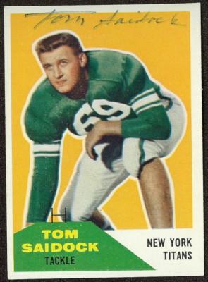 Autographed 1960 Fleer Tom Saidock