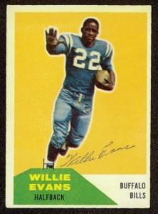 Autographed 1960 Fleer Willie Evans