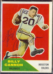 Autographed 1960 Fleer Billy Cannon