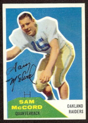 Autographed 1960 Fleer Sam McCord