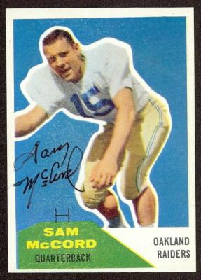 Autographed 1960 Fleer Sam McCord