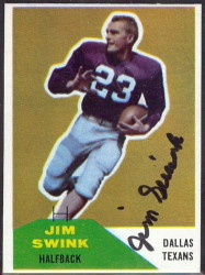Autographed 1960 Fleer Jim Swink