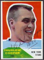 Autographed 1960 Fleer Thurlow Cooper