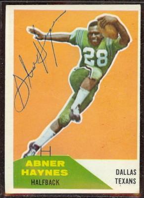 Autographed 1960 Fleer Abner Haynes