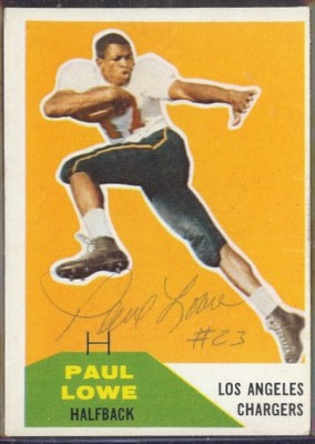 Autographed 1960 Fleer Paul Lowe