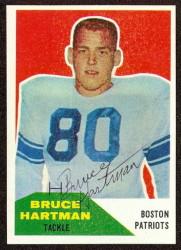 Autographed 1960 Fleer Bruce Hartman