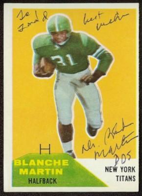 Autographed 1960 Fleer Blanche Martin