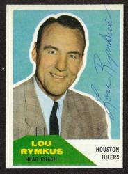 Autographed 1960 Fleer Lou Rumkus