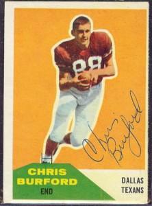 Autographed 1960 Fleer Chris Burford