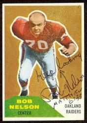 autographed 1960 fleer bob nelson