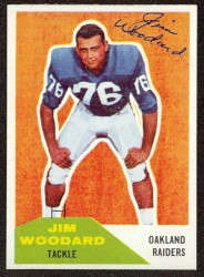 autographed 1960 fleer jim woodard