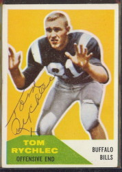 autographed 1960 fleer tom rychlec