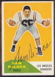 autographed 1960 fleer sam deluca