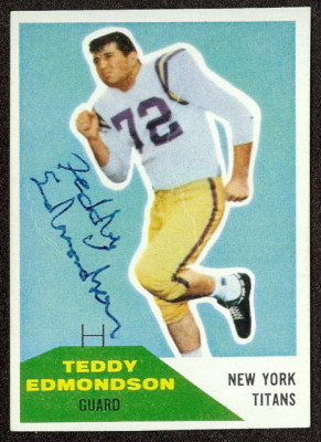 autographed 1960 fleer teddy edmondson