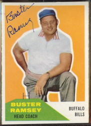 autographed 1960 fleer buster ramsey