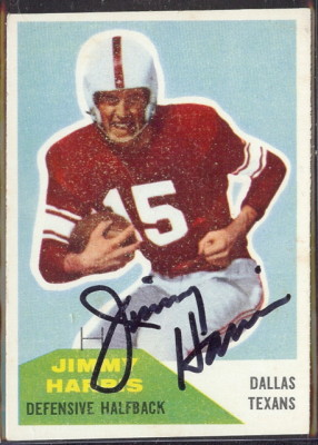 autographed 1960 fleer jimmy harris