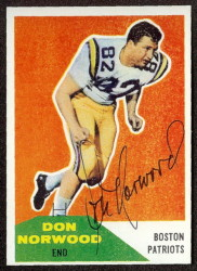 Autographed 1960 Fleer Don Norwood