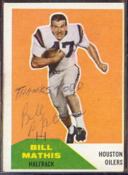 Autographed 1960 Fleer Bill Mathis