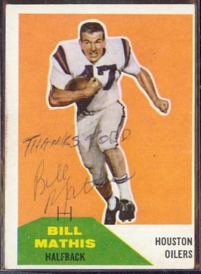 Autographed 1960 Fleer Bill Mathis