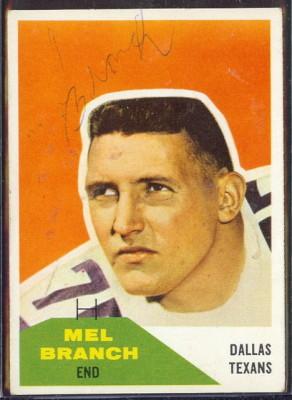 Autographed 1960 Fleer Mel Branch
