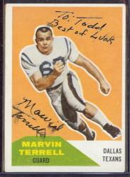 Autographed 1960 Fleer Marvin Terrell
