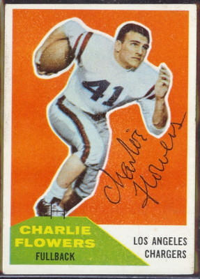 Autographed 1960 Fleer Charlie Flowers