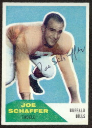 Autographed 1960 Fleer Joe Schaffer