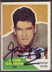 Autographed 1960 Fleer John Carson