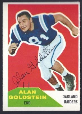 autographed 1960 fleer alan goldstein