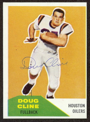 Autographed 1960 Fleer Doug Cline