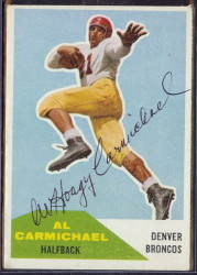 Autographed 1960 Fleer Al Carmichael