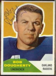 Autographed 1960 Fleer Bob Dougherty