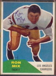 Autographed 1960 Fleer Ron Mix