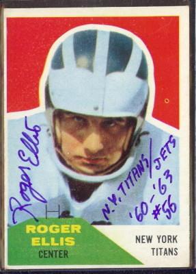 Autographed 1960 Fleer Roger Ellis