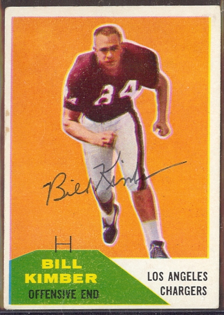 Autographed 1960 Fleer Bill Kimber