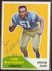Autographed 1960 Fleer Jim Matheny