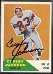 Autographed 1960 Fleer Curley Johnson