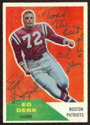 Autographed 1960 Fleer Ed Denk