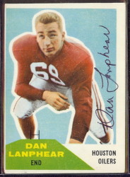 Autographed 1960 Fleer Dan Lanphear