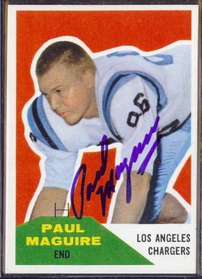 Autographed 1960 Fleer Paul Maguire