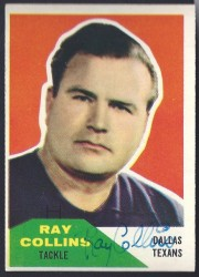 autographed 1960 fleer ray collins
