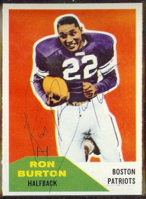 Autographed 1960 Fleer Ron Burton