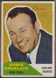 Autographed 1960 Fleer Eddie Erdelatz