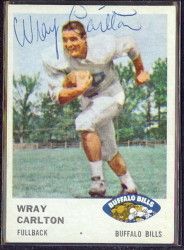 autographed 1961 fleer wray carlton