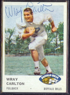 autographed 1961 fleer wray carlton