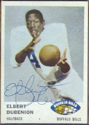 autographed 1961 fleer elbert dubenion
